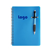Blue color PP Plastic Cover Office Supplies Gift Business Blank Notebook Spiral Bound Notebooks with Elastic band