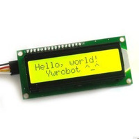 Yellow Display IIC/I2C/TWI Serial Interface 1602 16X2 Character LCD Module