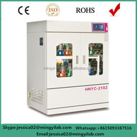Electrical incubator shaker vertical refrigeration type with double door/layer