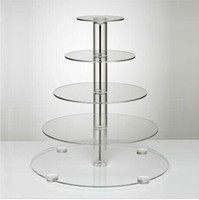 high end desktop acrylic display stand cupcake crystal floor stand