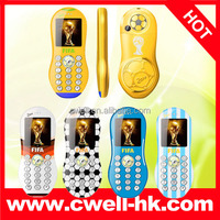 2014 China Tiny Mini GSM Mobile Phone Dual SIM Small Size F9 for who like football