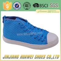 Branded men's designer sneaker made in China high woven sneaker