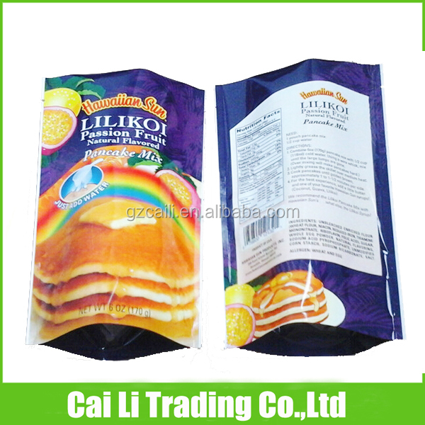 cake packing colorful printed laminated plastic standing bag