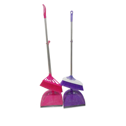 Indoor Cleaning Household long plastic broom and dustpan set