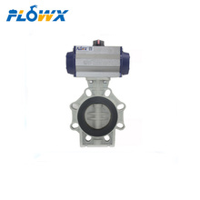 China Manufacture 10inch UPVC CPVC PVC plastic Pneumatic Lug type butterfly valve price