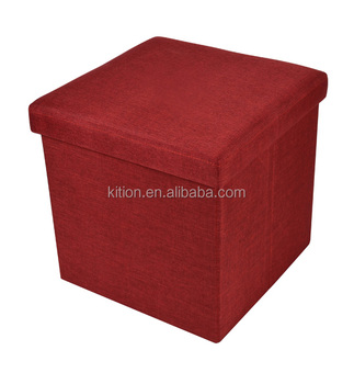 38*38*38cm cube MDF foldable wood stool red