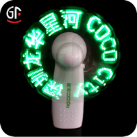 Birthday Party Event Safe Electric Mini Message Fan With Led