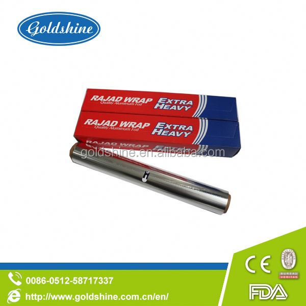 Goldshine Aluminum foil rolls for food packaging in paper box