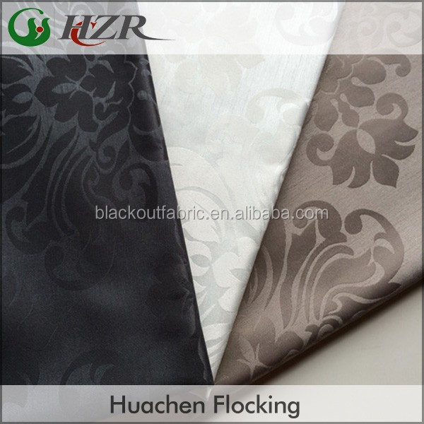 Waterproof Damask Pattern Blackout Roman Blind Fabric