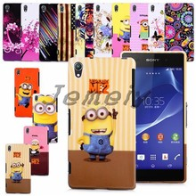 3 IN 1 !! For Sony Z2 Printed Soft TPU Gel Back Case Cover Plastic Mobile Phone Bag+ Screen Film+Stylus With Free Shipping Cost