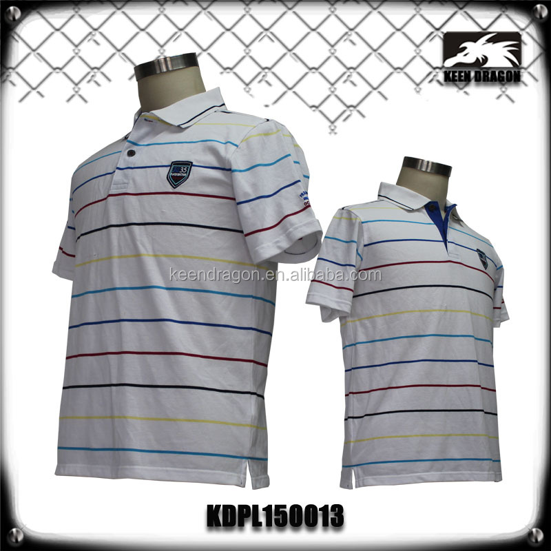 High Quality New Design Colorful Striped Polo T shirts