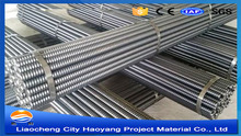 Hollow grouting galvanized tube for building construction