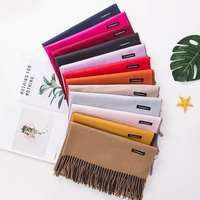 Promotional Winter Polar Fleece Fringe Tassels Scarf 2019