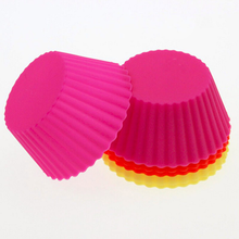 Silicone Reusable Cupcake Cases Baking Muffin Cups Liners Molds Sets
