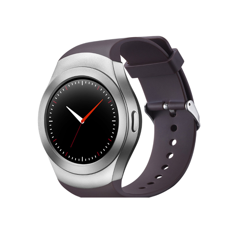2017 New Arrival Round Touch Screen Smart Watch Mobile Phone with Heart Rate Monitor SIM TF Card