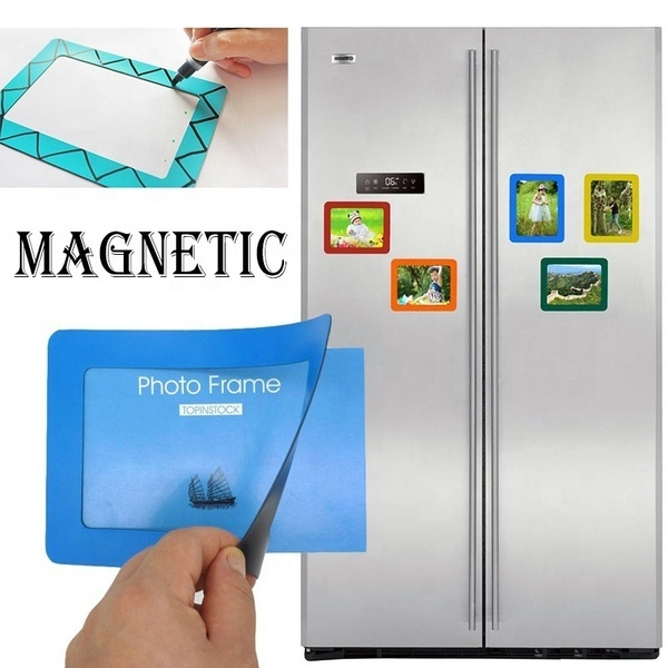 High Quality Durable Soft Rubber PVC Hanging Single Layer Insert Photo Fridge Magnet