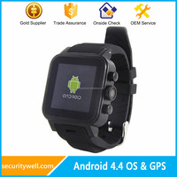Android 4.4 CE ROHS WiFi Smart watch Android Dual SIM