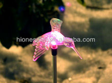 Solar Powered Color Changing Outdoor Garden Pathway Stake LED Hummingbird Light