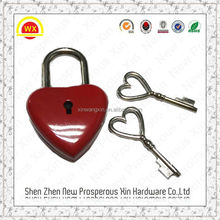 Love heart shaped smart luggage lock