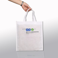 New arrival white custom logo non woven promotion bag