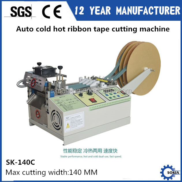Automatic computer noly label Ribbon Webbing Hot blade Cutting Machine