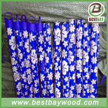 Hot sale natural broom handles wholesale/pvc coated wooden broom handle/pvc mop stick