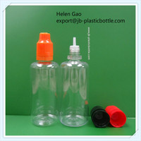 60ml PET dropper bottles with childproof & tamper evident seal cap
