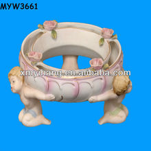 clay famous Ceramic Rings and flower ceramic Baby figurines