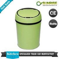 perforated metal smart small trash bottle bin