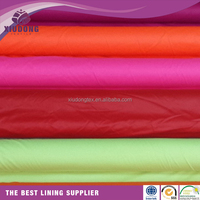 170T 190t 210t 100 Polyester plain dyed taffeta fabric for lining