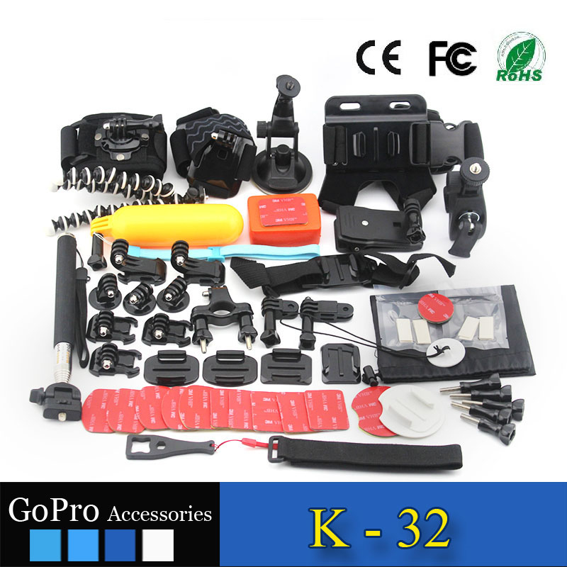 hot selling products 52 in 1 kit used for gopros heros 4 accessories kit mount action camera case