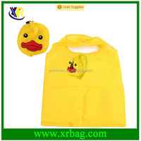 Eco Foldable Storage Reusable duck shape Animal polyester Shopping Bag