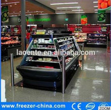 More than 1000 Liter Imported Famous Compressor fruits and vegetable open showcase in Excellent Quality