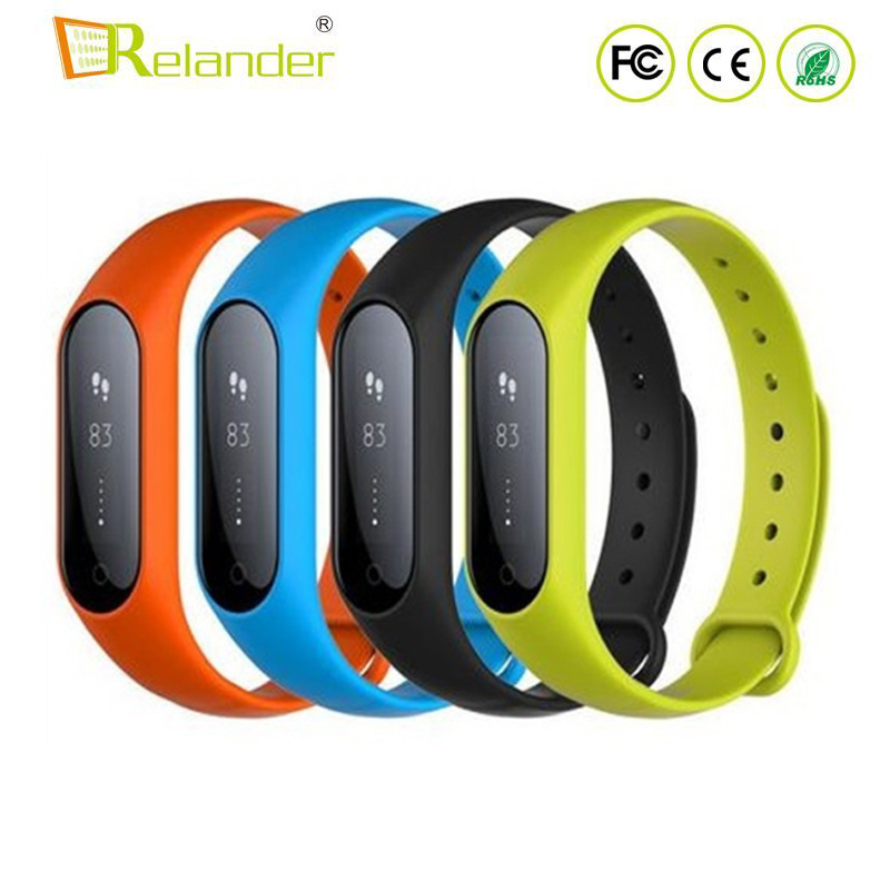 <strong>DHL</strong> US free shipping waterproof step distance calories record heart rate fitness bracelet for Xiaomi miband2