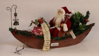 XM-A6025 32 inch lighted tree santa sitting boat christmas outdoor decoration supplies outdoor