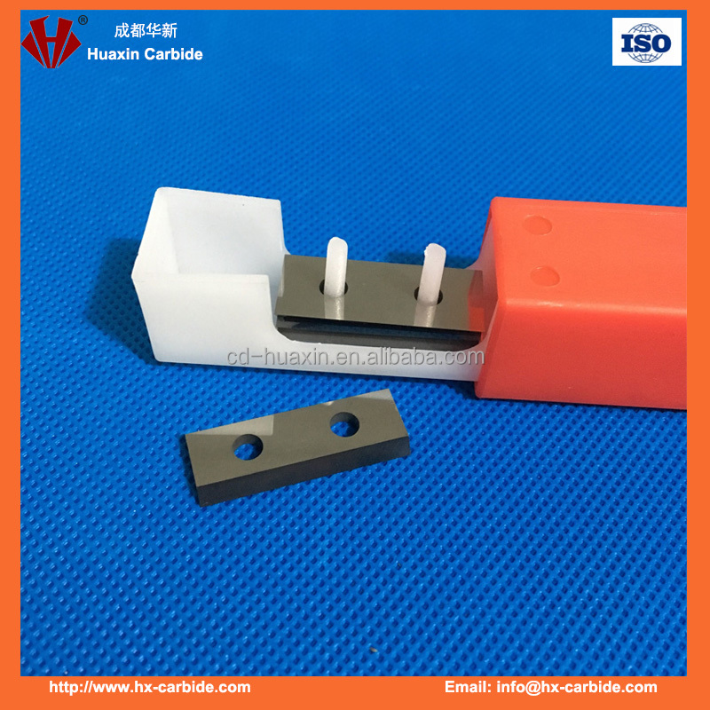 Retangular carbide insert knives double surfacer Planer Knives for XL Machines 2 edge cutting blade