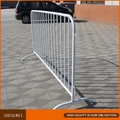 Galvanized crowd control metal road safety barrier fence