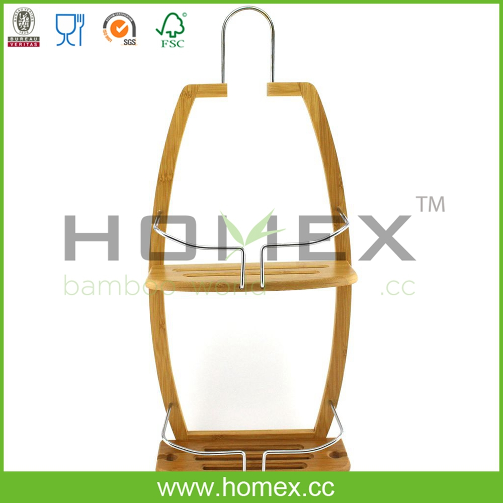 bamboe opknoping badkamer douche caddy homex fsc bsci fabriek