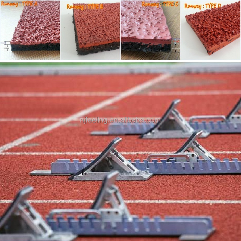 IAAF certified all weather 13mm synthetic rubber running track materials-g-y-150625