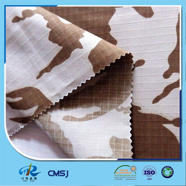 High quality rip stop 8oz polyester cotton desert camouflage fabric for military