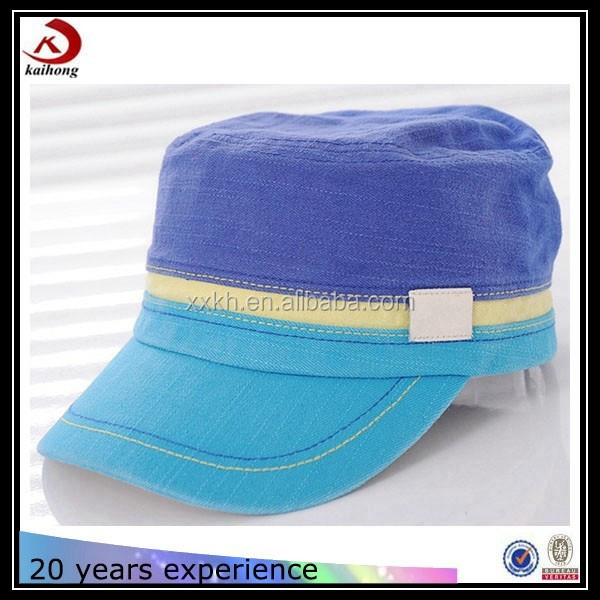 cheap children short bill baseball cap military hats summer