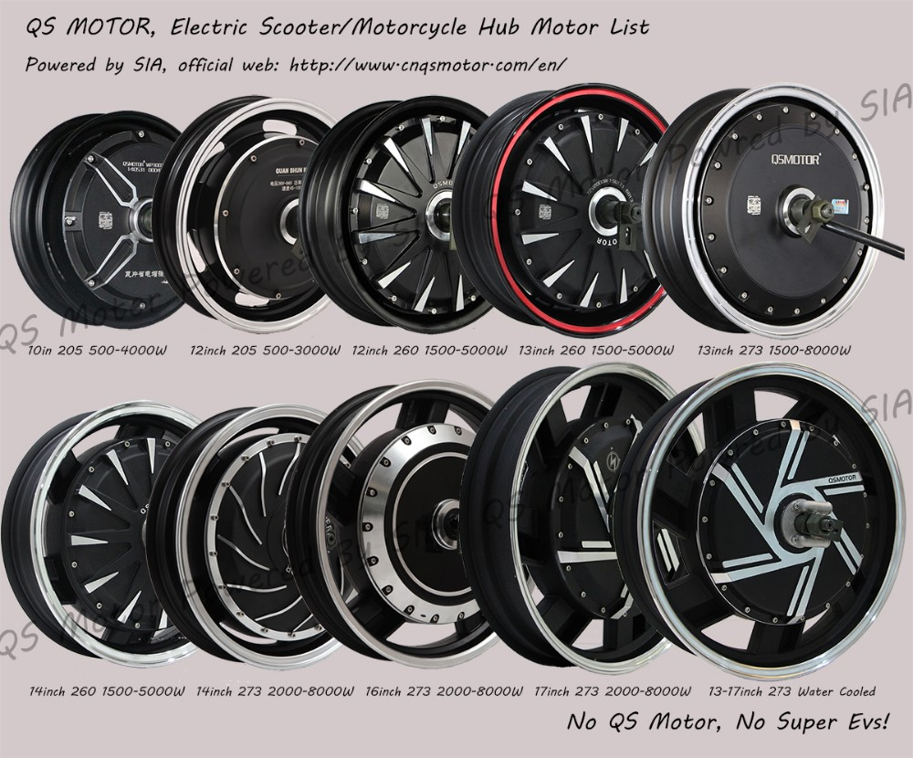 QS Motor Electric Scooter Motorcycle Hub Motor List