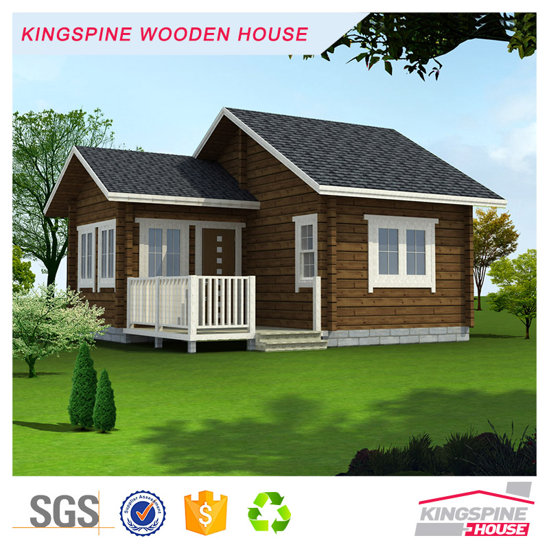 Prefab Log House with Terrace Cabin in the woodes hut in the forest KPL-003