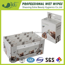 Single glasses/lens cleaning wet wipes