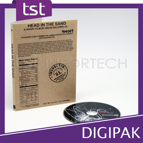 Top DVD Size Digi pak with Best Packaging