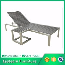 Silver Grey Color Outdoor Bali Sun Lounge Teak Furniture Antique Wood Daybed
