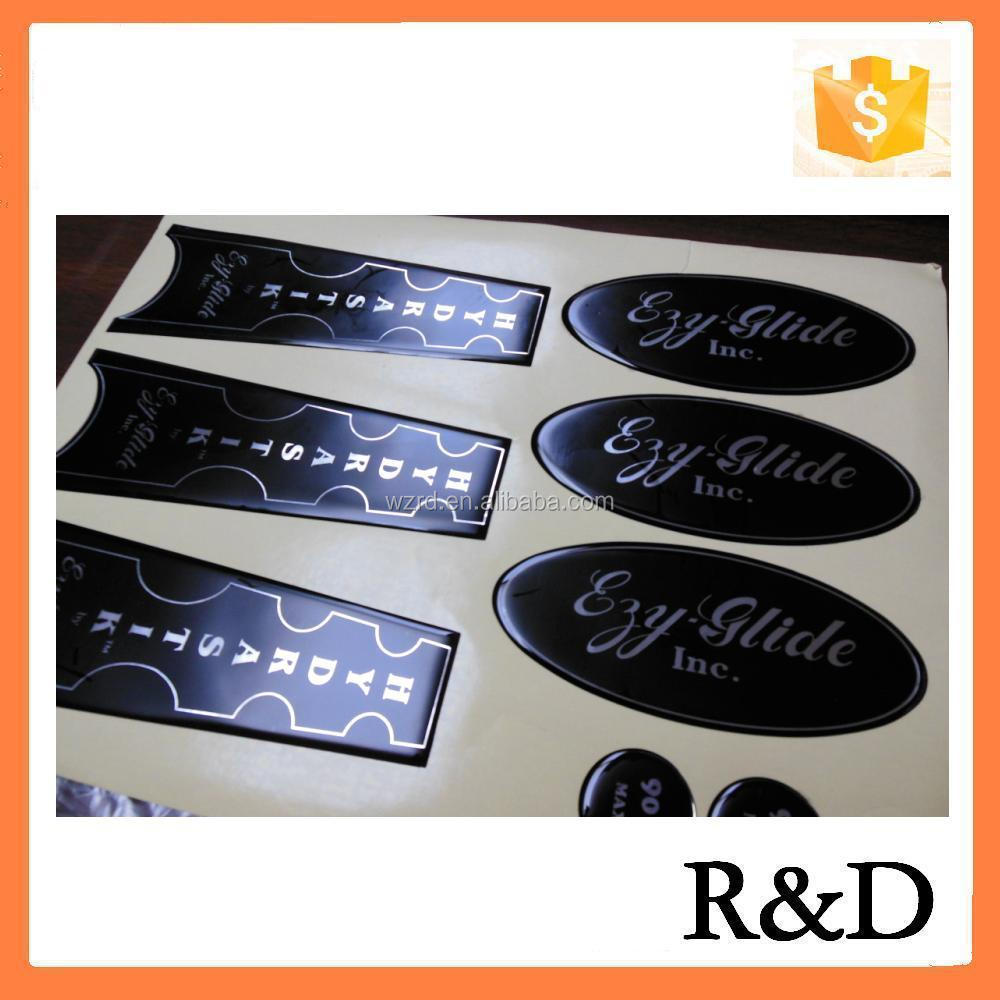 Quality workmanship Custom Cheap Clear Epoxy Resin Dome Label Logo Decal Sticker