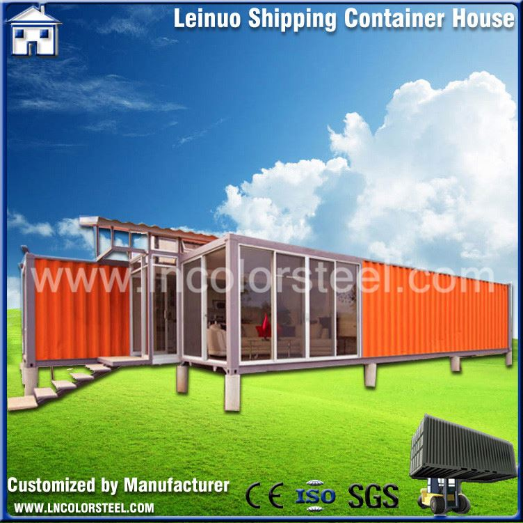Eco-friendly Flatpack 40ft shipping container house