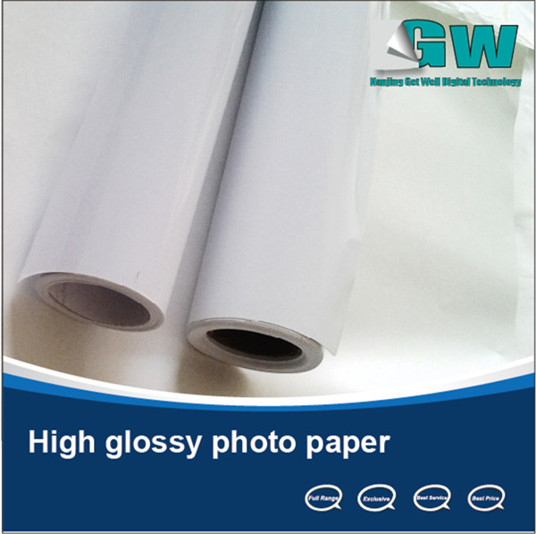Factory supply! waterproof inkjet cast coated double side glossy photo paper