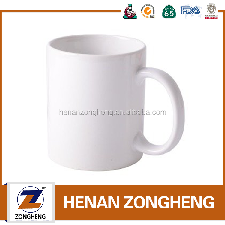 wholesale custom white ceramic sublimation cup